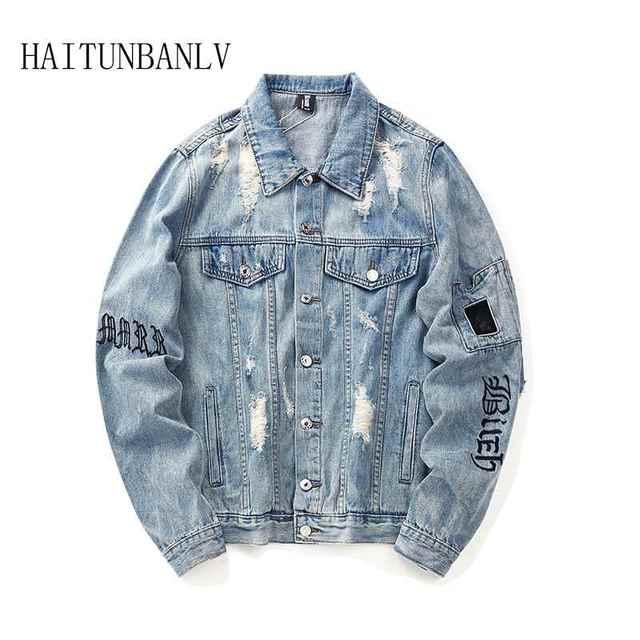 New Hip hop mô hình Bảng Chữ Cái áo Giản Dị Harajuku Thời Trang Nam áo khoác