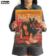 Pulp Fiction Vintage Movie Poster Sexy Girl Nostalgico Retrò Kraft di Carta Decorazione Della Parete di Arte Dipinti 42x30cm FRD04(China)