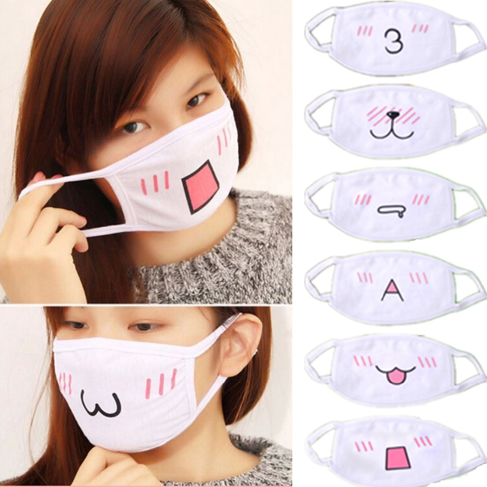 buy 10pcs kawaii anti dust mask kpop cotton mouth mask cute anime cartoon mouth. Black Bedroom Furniture Sets. Home Design Ideas