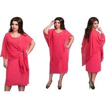 2017 New Designer Women Dress Vestidos 6XL Plus Size Maxi Autumn False 2 Pieces Sexy Loose Casual Solid