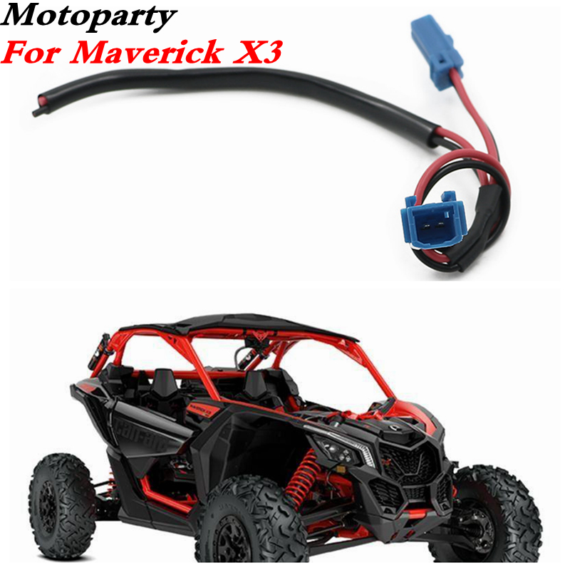 1X UTV Power Port Pigtail Wiring Car Accessory For Can-Am Maverick X3 4x4 Car