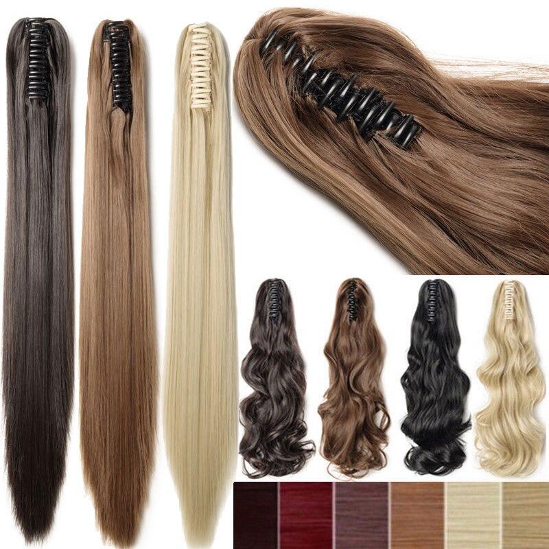 SNOILITE Syntetiska Kvinnor Kläm på Ponytail Clip i - Syntetiskt hår - Foto 1