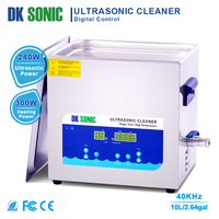 DK SONIC 10L 240W Degassing Timer Heater Ultrasonic Cleaner Bath for Parts Jewelry Brass Eyeglass Ring Carburetor Fuel Injector
