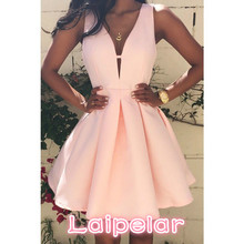 Fashion Women Dresses Casual Sleeveless V-neck Homecoming Evening Party Hot Laipelar