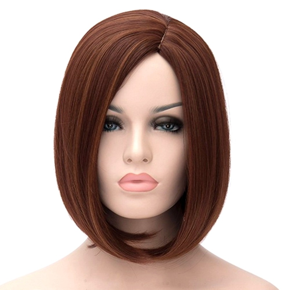 JOY&BEAUTY Black Root Ombre Golden Gray Green Blue Wig Synthetic Hair Short Wigs For Women Bob Natural Wave 12inch Free Wig Cap
