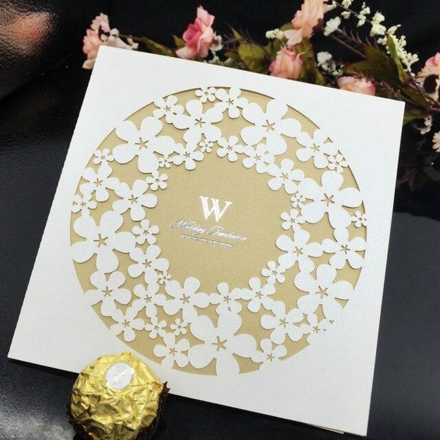 30 Teile/los DIY Hochzeit Geburtstag Einladungen Hohl Einladungen Geschenk  Umschlag Papier Postkarte Brief Umschlag