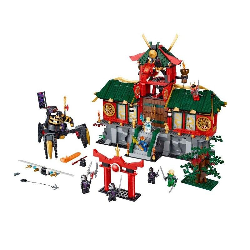 Nouveau Bela 9797 Ninja de Thunder Swordsman château 1223 Pcs Building Block Jouets Compatible Avec garçon cadeau