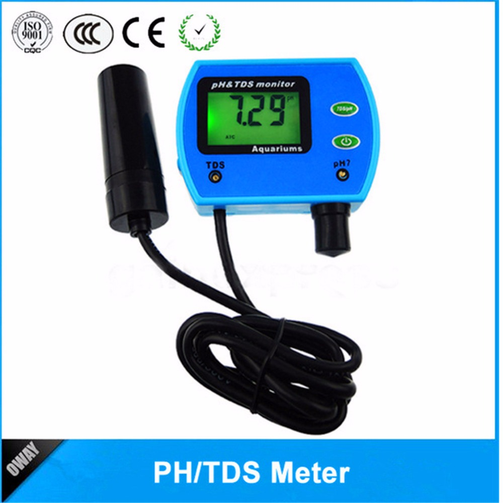 New 2 in 1 Water Quality Tester Multi-parameter Good Water Quality Monitor pH TDS Meter Multiparameter Water Quality Analyzer professional 2 in 1 soil moisture meter and ph level tester agriculture hydroponics farming analyzer for plants