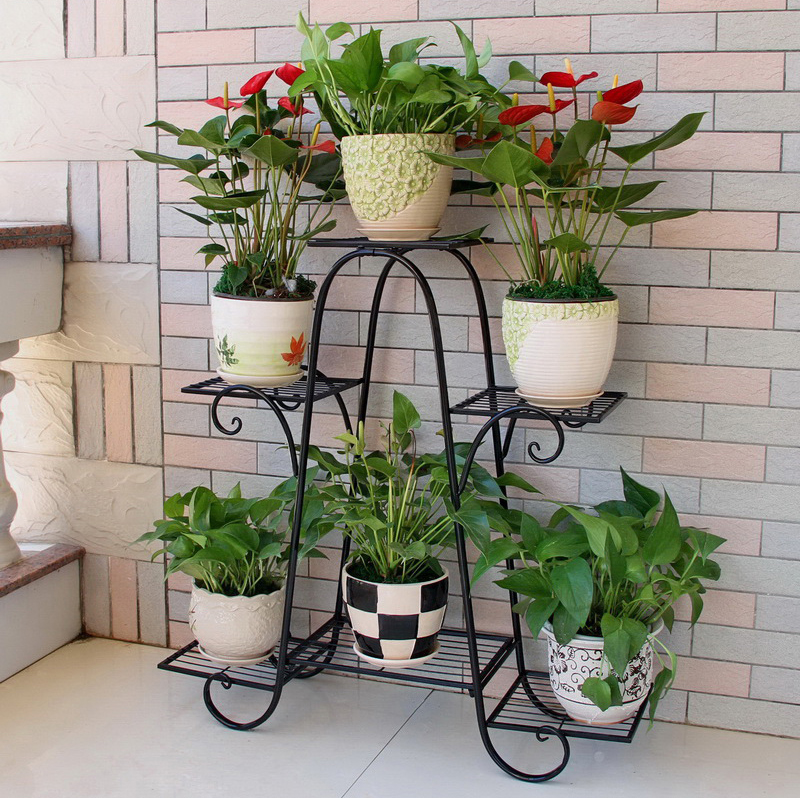 big size 6 pots european balcony and indoor flower pot holder garden flower  stand iron flower pergolas-in Flower Pots & Planters from Home & Garden on  ...