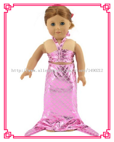 Кукла русалка платье