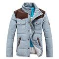 2016 novo inverno dos homens quente para baixo gola do casaco Fino Ms. sem tampa Para Baixo 90% de penas de pato branco casal frete grátis