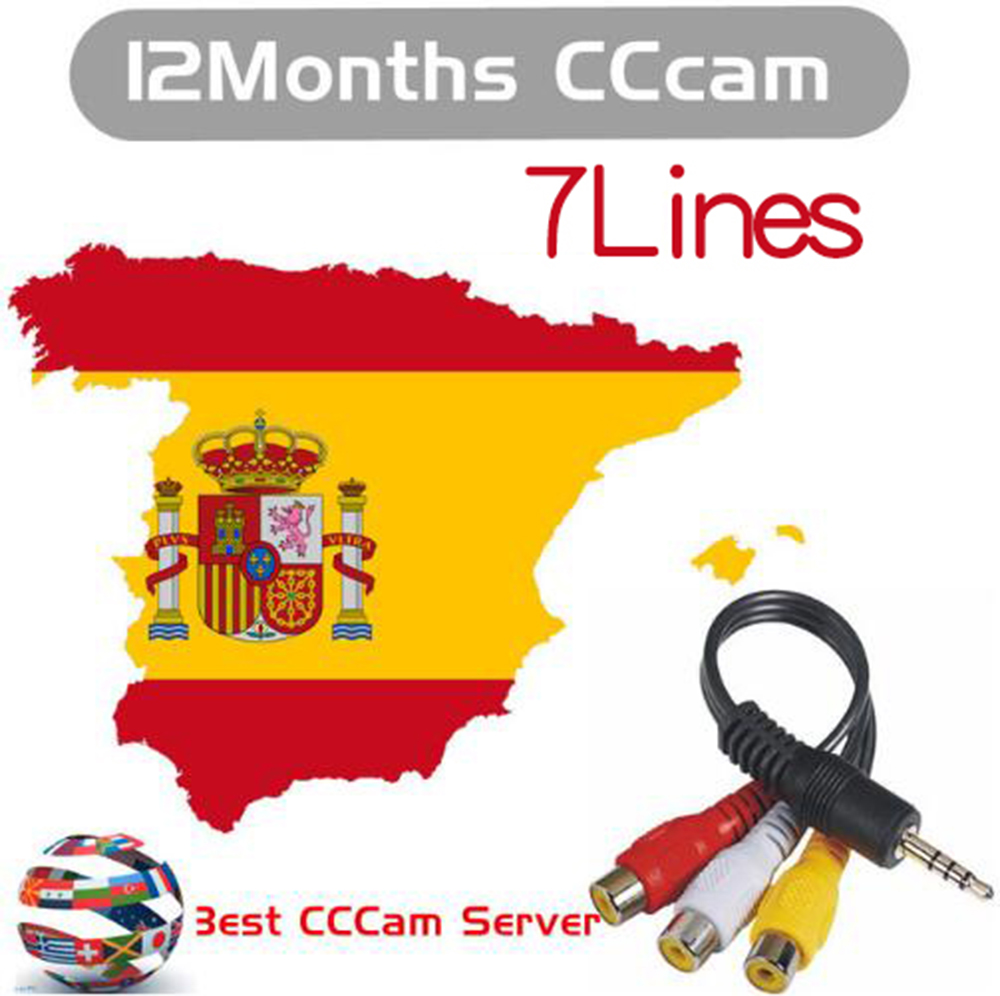 Most stable cccam 7 C lines CCCAM Server for 1 year for Spain Portugal Germany satellite