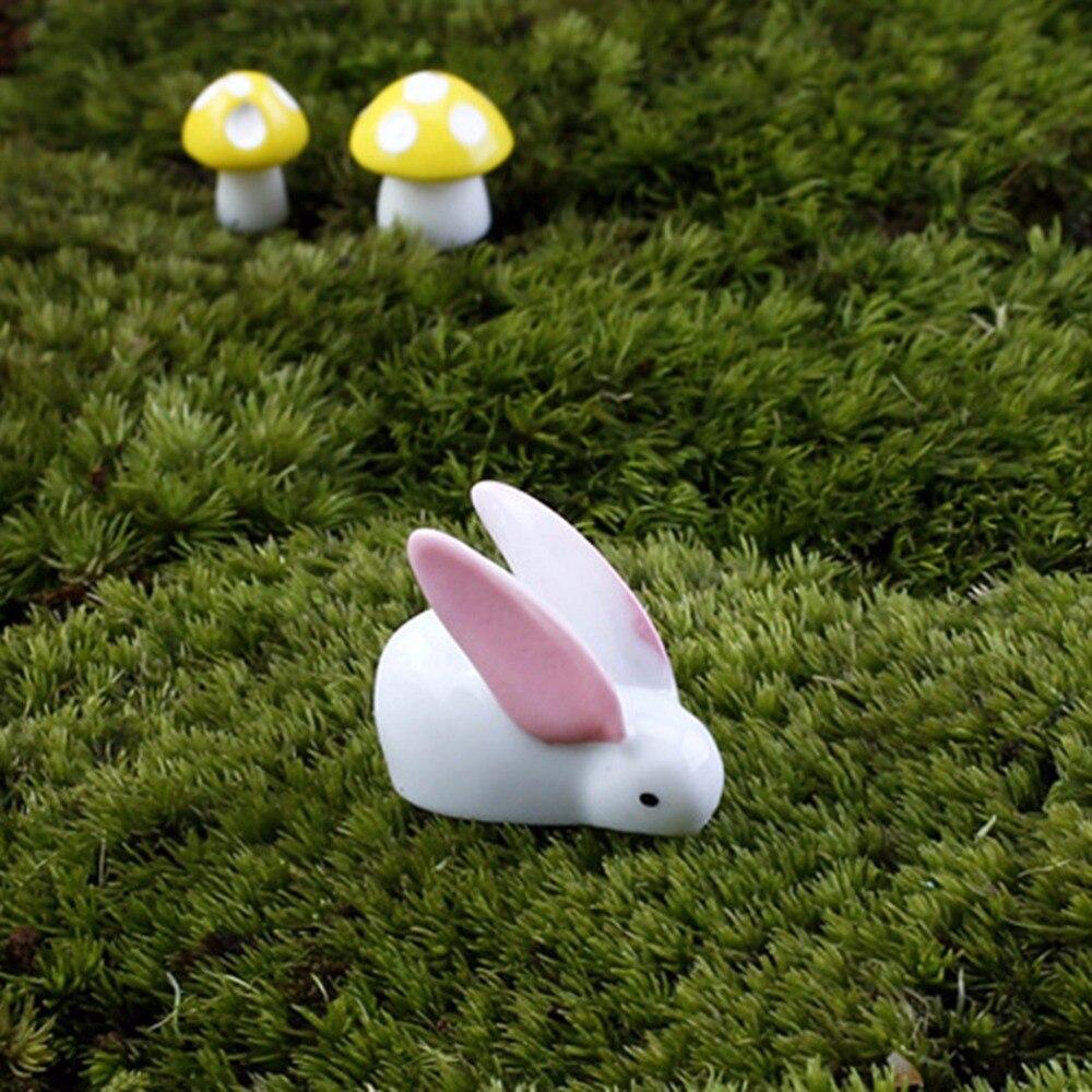 MENGXIANG DIY Mini Rabbit Ornament Miniature Figurine Fairy Garden ...