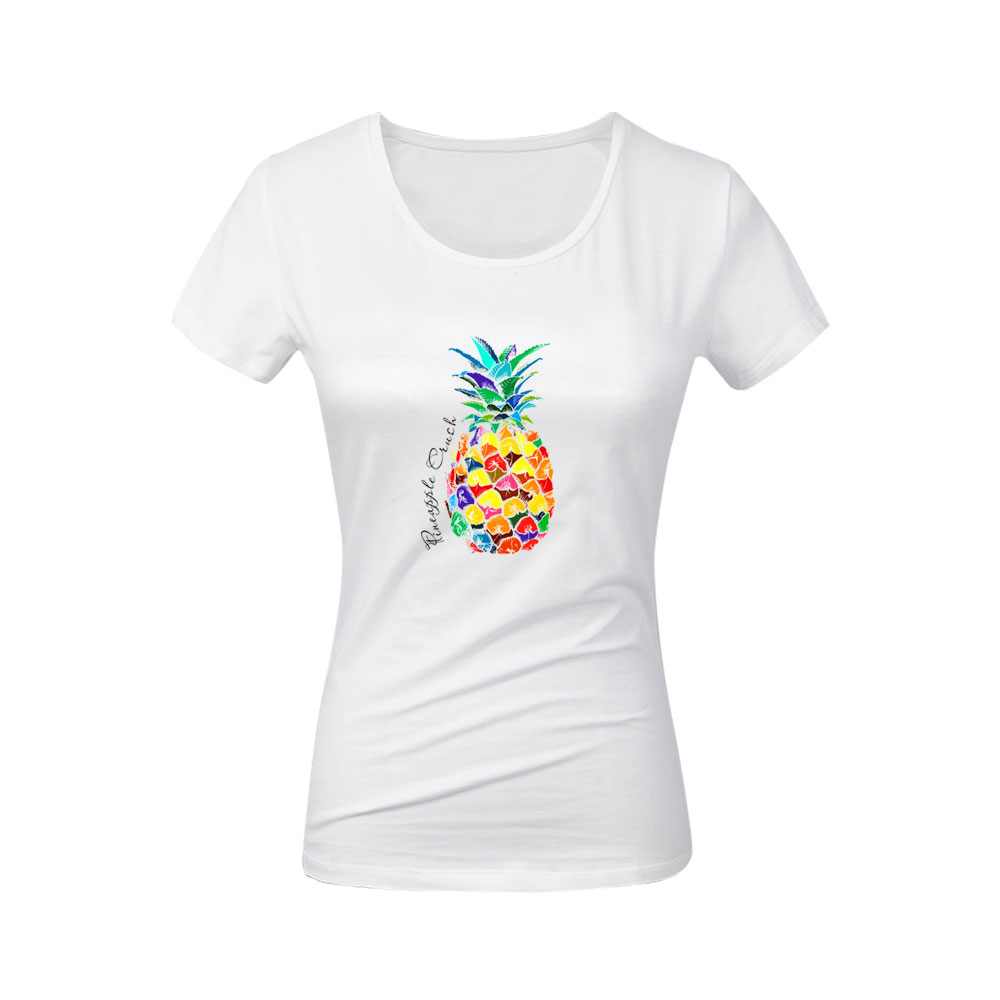 color pineapple patches for clothing diy transfert thermocollants t shirt kids women clothes iron patch vetement ananas stickers in Patches from Home Garden
