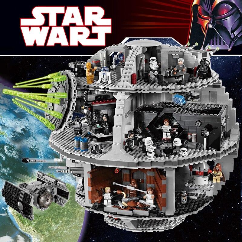 3803 шт. набор кирпичей большая звезда новая война силы разбуди UCS Совместимость legoinglys Звезда смерти Образование блоков игрушки для мальчиков