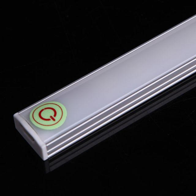 Możliwość przyciemniania 30CM USB czujnik dotykowy LED listwa oświetleniowa szafka szafa szafka lampa 5V sztywne obok czytania książki biurko lampa ZZD0005 tanie i dobre opinie Eleven Master reading light Dotykowy włącznik wyłącznik Nikiel szczotkowany ROHS Shadeless Stop metal iron Nowoczesne