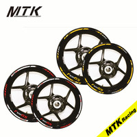 MTKRACING 12 X 19''17'' Thick Edge Outer Rim Sticker Stripe Wheel Decals Motorcycle For BMW F700GS ADVENTURE
