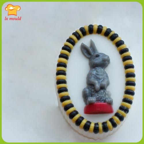 LXYY MOLD handgemaakte zeep schimmel ovale konijn zeep schimmel - Keuken, eetkamer en bar