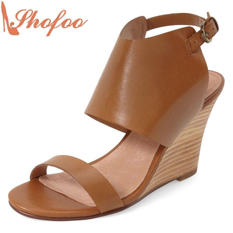 Shofoo Women Shoes Shofoo Women's Fashion Red Bottom Stiletto Sandals High Heels Shoes Woman WeddingPartyDress Size 33 Shoe