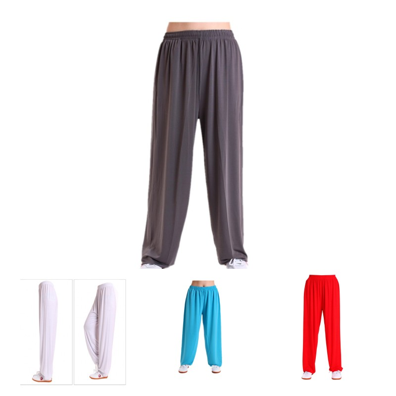 Tai Chi pants adult Practice pants Ice silk Martial Arts summer morning exercises dance Walking Loose Lantern pant