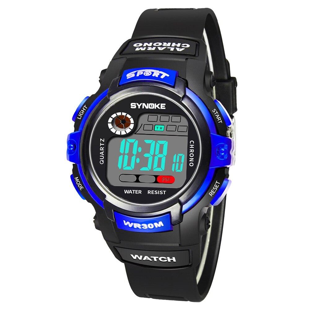 Sport Cartoon Watch Boys Girls Children LED Waterproof Luminous Digital Watches LL@17