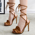 Women Summer Shoes Gladiator High Heel Sandals Fashion Brand Lace up Sandlias women Sandals Sexy Ladies Shoes