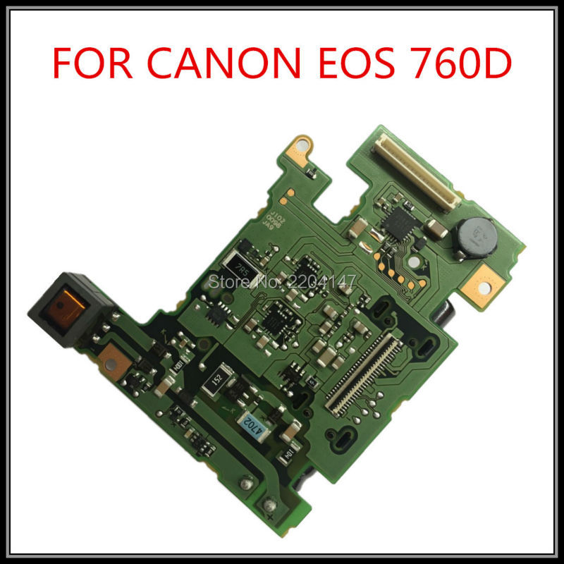 100% nouveau powerboard original pour Canon EOS 760D Kiss 8000D rebelle T6s carte d'alimentation dslr caméra pièces de réparation livraison gratuite