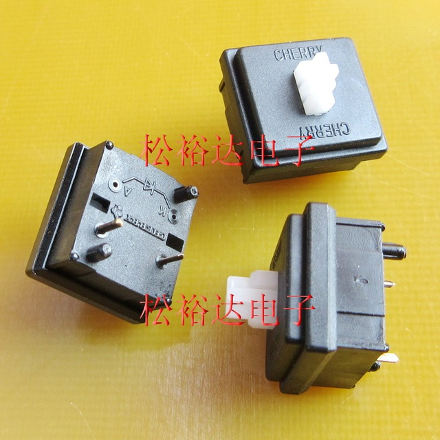 5pcs/lot M81 import new original CHE-RRY 2 pin keyboard switch M8 white axis 13.5*13.5MM