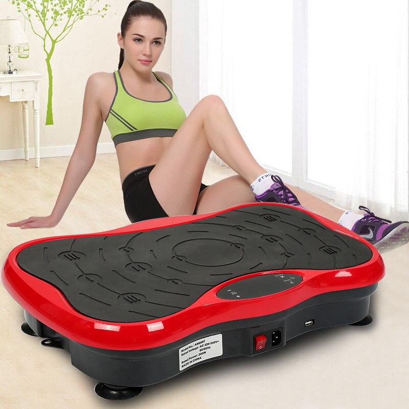 Equipamento de fitness power fit máquina de placa de vibração muscular vibratório massageador corpo shaper perda de peso emagrecimento dispositivo louco hwc