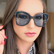PAWXFB 2019 Oversized Square Sunglasses Women Fashion Summer Style Accessories Ladies Eyewear