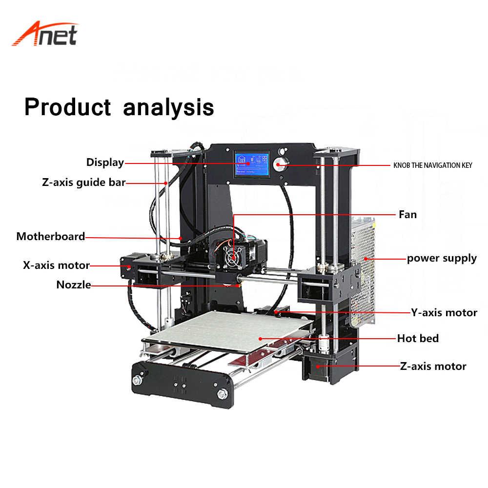 Anet E12 E10 A8 A6 مصنع الجملة Impressora 3d سريع سرعة الطباعة Prusa i3 3d طابعة اقتصادية عالية الدقة Stampante 3d