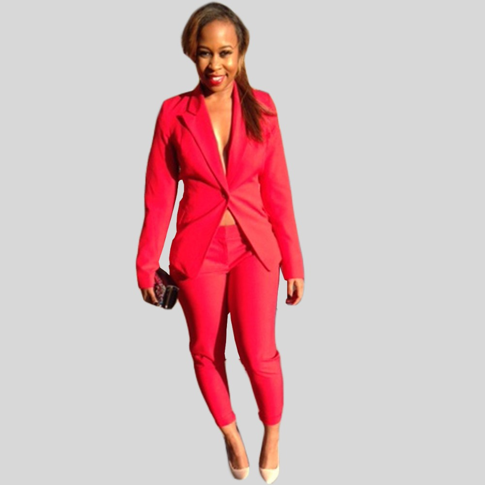 High Quality Red Pants Suit for Women-Buy Cheap Red Pants Suit for ...