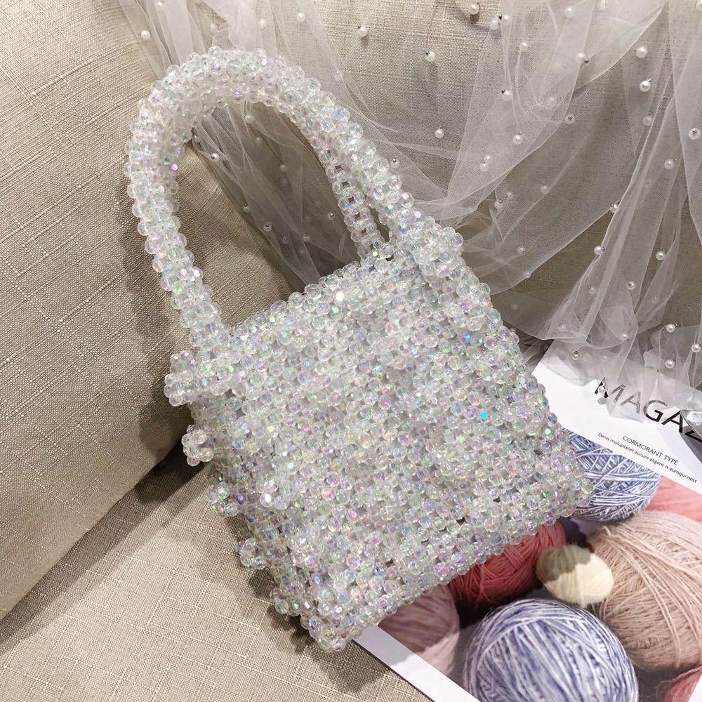 2019 nouveau Ins Style perles Portable fait à la main solide loisirs élégant élégant all-match doux dame mignon exquis rabat Simple