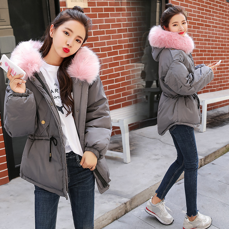 Short Hooded Fur Collar Winter Down Coat Jacket Student Thick Warm Slim Casaco Feminino Abrigos Mujer Invierno Wadded Parkas 18