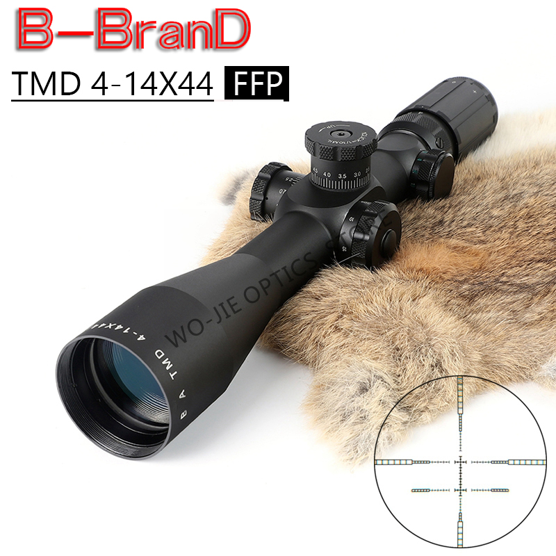 TMD 4-14X44 FFP Tactical Riflescope Sniper Optic Sight Hunting Scopes Rifle RG Red Dot Airsoft Rifle Accessories Rifle Scope
