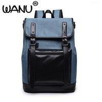 2017 New Korean Europe Style Male Canvas Backpack High Capacity Travel Bag Laptop Backpack Men School