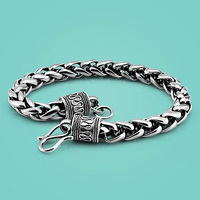 Chain&Link Bracelets 925 sterling silver bracelet for men Thai silver 7.5mm20.5cm chain Solid silver body jewelry birthday gift