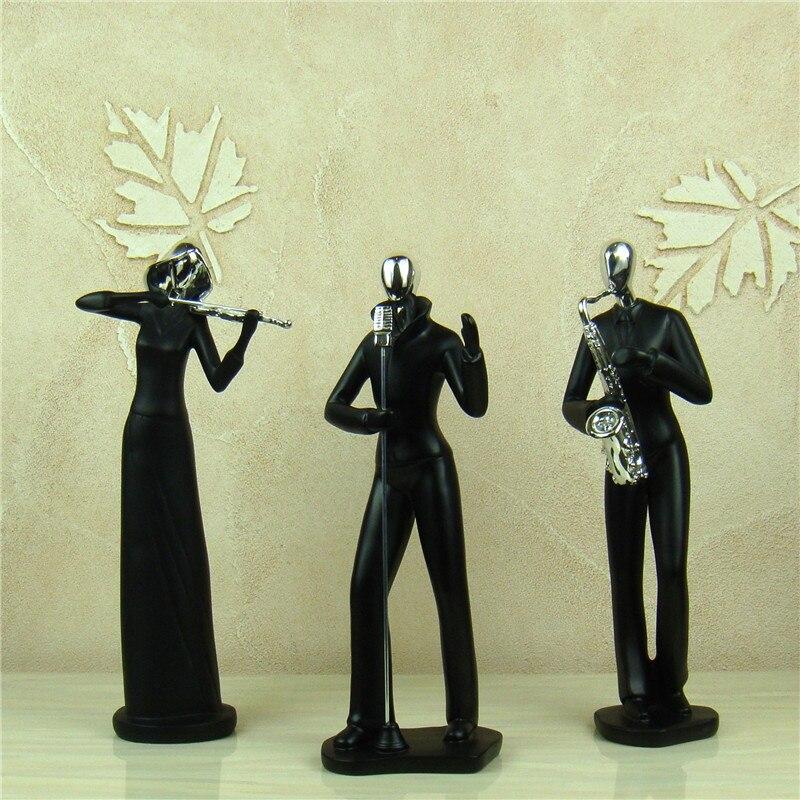Classique Musique Bande Figurines Abstractive Musicien De Résine Figure Statue Room Decor Art Collection Concert Ornement Présents Artisanat