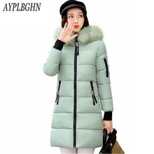 high quality Winter Jacket Women Hooded Thick Coat Female fashion Warm Outwear Down Cotton-Padded Long Wadded Jacket Coat Parka
