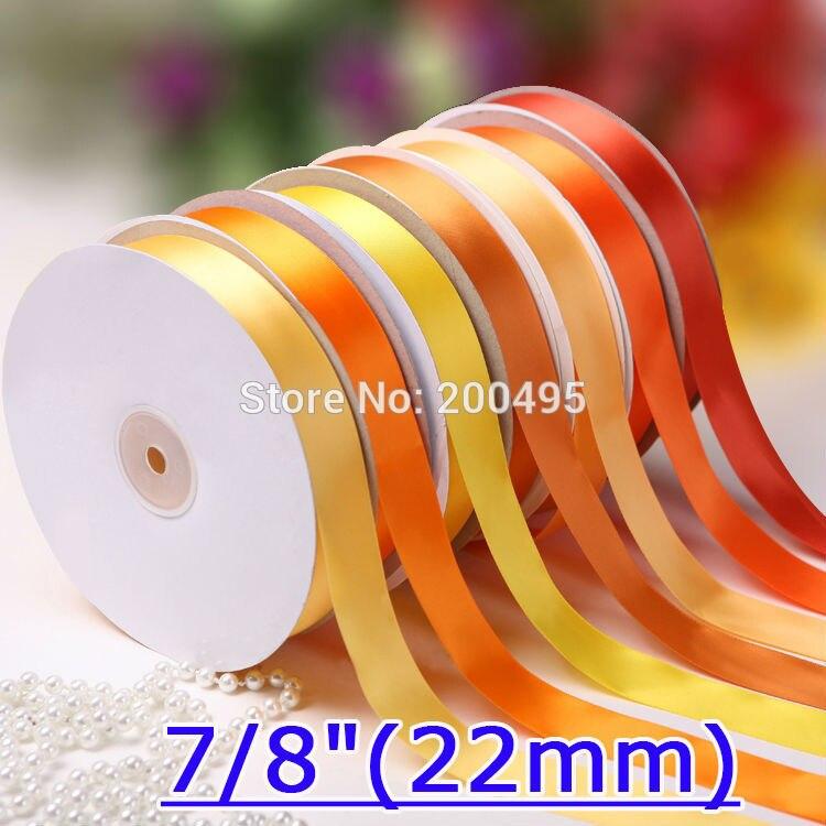"""[IuBuFiGo] 7/""""(22 мм) двойной бант из атласной ленты подарочная упаковка ленты 100 ярдов/комплект"""