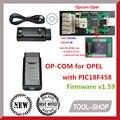Versión V1.60 V1.59 120309A mejor OBD2 OP COM con PIC18F458 chip de Interfaz de Diagnóstico OPCOM OP-COM Escáner herramienta de Trabajo PARA Opel