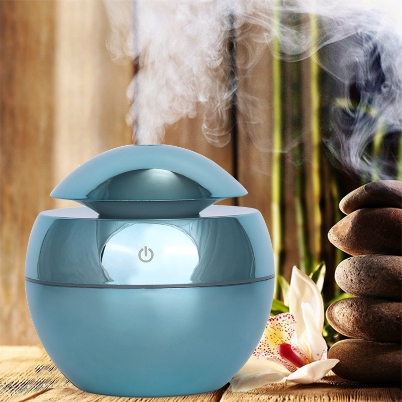 130ML USB Aroma Essential Oil Diffuser Ultrasonic Air Humidifier Mini Mist Maker Aroma Diffuser Home Office 7 Color LED Light