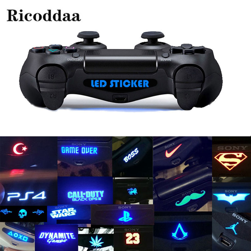 10PCS/20PCS/40PCS For PS4 Controller Custom Game Light Bar Vinyl Decal Led Sticker For Sony PS4 Playstation 4 Gamepad Accessory