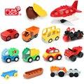 Funlock Duplo Héroes de Transporte de La Ciudad Bloques de Escena Vehículo Sport Car, autobús, Barco, Jeep, camión, avión, Juguetes para niños