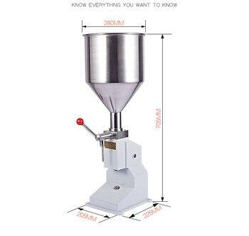 A03 manual filling machine Manual Nail Polish Shampoo Filling Machine 5~50ml for Cream Shampoo Cosmetic Liquid Paste Oil Filler 1