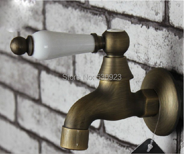 Antique Br Bathroom Washing Machine Laundry Faucet Water Tap Single Handle