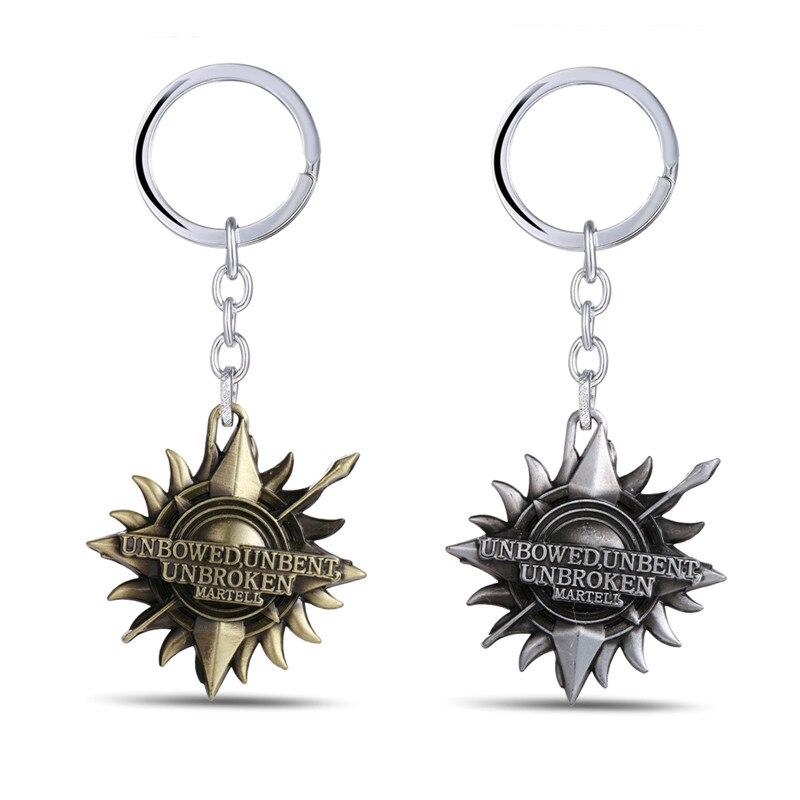 J Store Game of Thrones Keychain House Martell Badge Metal Pendant Keychain Key Chain Key Ring Vintage Car Handbag Charm