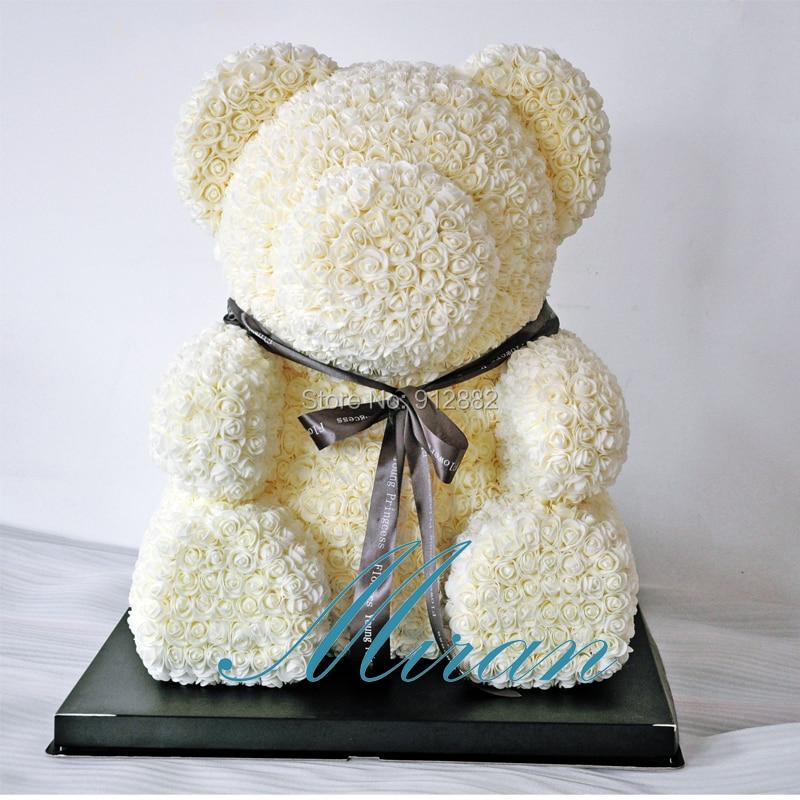 2018 Valentines Gift Super bear(70cm tall) 7 Colors PE Rose Bear Wedding Gift Girlfriend Gift Anniversary Gift
