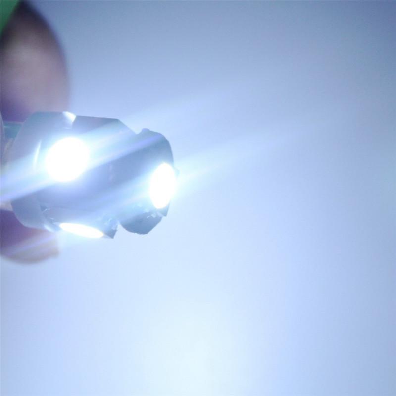 Leites 2PCS BA9S 5050 5SMD 1.2W 6500K 70LM 12V Instrument Lamp Automotive LED License Plate Lights 12v bayonet led bulbs.11