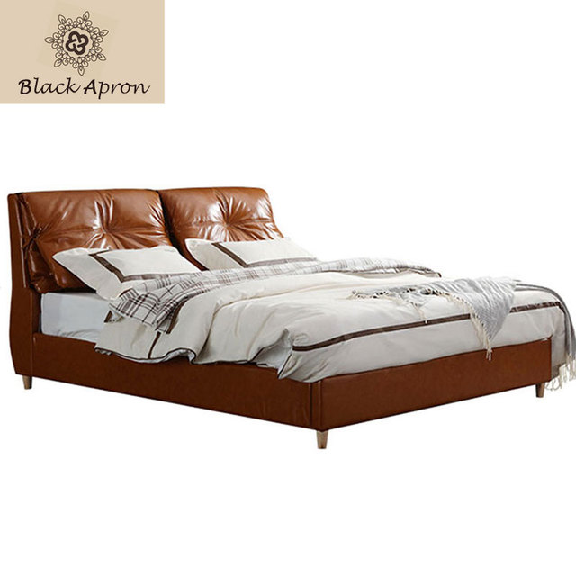 TOIN Bedroom Furniture Leather Beds muebles De dormitorio Lit Modern ...